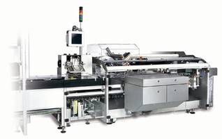 Cartoner suits pharmaceutical and cosmetics industries.