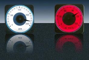 Back-Lit Switchboard Meters measure 4 in.