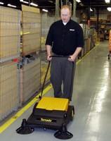 Floor Sweeper features Quadra brush system.