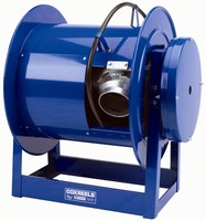 Exhaust Hose Reel features all welded A-frame construction.