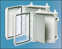 Enclosures are made from injection-molded polycarbonate.