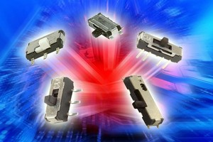 Miniature Slide Switches come in multiple configurations.