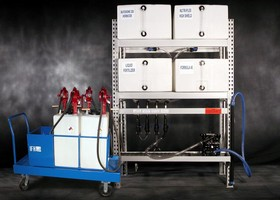 Storage/Dispensing System uses polyethylene containers.