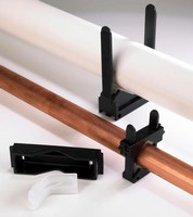 Adjustable Pipe Bracket and Clamping System Use TPE Compound to Help Arrest Noise