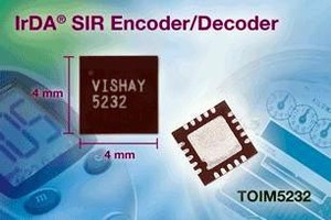 Encoder/Decoder suits serial infrared wireless applications.