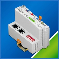 Fieldbus Controller integrates Ethernet switch into PLC.