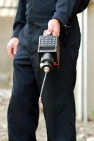 Flame Ionization Detector measures methane gas.