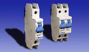 Molded Case Circuit Breakers are 17.5 mm wide per pole.