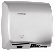 Adjustable Hand Dryer offers hands-free/pushbutton operation.