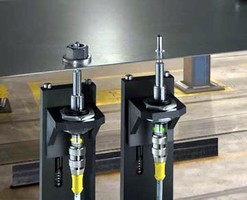 Magnetic-Inductive Sensors facilitate detection of weld nuts.