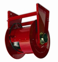 Exhaust Hose Reels are spring retractable.
