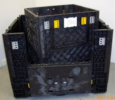 Collapsible Bin has load capacity of 2,000 lb.