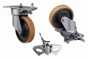 Heavy-Duty Casters have notches for easy installation.