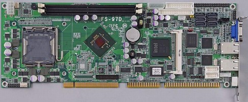 CPU Board is based on Intel Q35 Express chipset.