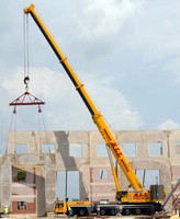 ALL Erection & Crane Rental Corp. Does Live Tilt-up Concrete Construction Demonstration with Star Inc. in Sandusky, Ohio