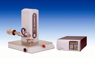 Ultrasonic Welder has automatic frequency tuning.