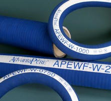 Wire-Reinforced EPDM Hose handles both suction and discharge.