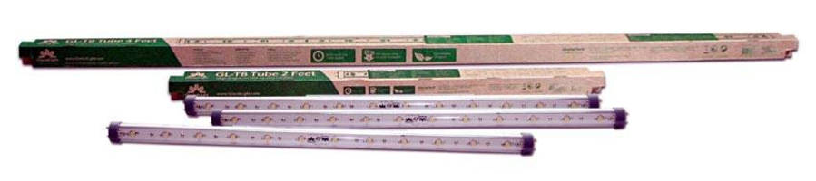 LED Light Tubes fit into fluorescent lamp assemblies.