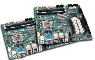 Motherboards are based on 45 nm Intel® Core(TM) 2 Quad processor.