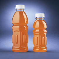 PET Beverage Bottle molded of monolayer PET resin
