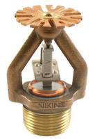 Sprinkler has temperature ratings of 160°F and 205°F.