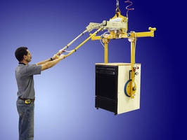 Below-the-Hook Vacuum Lifter has side grip suction pads.