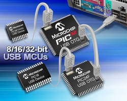 Microchip Technology Announces USB Software Stack with On-The-Go Support for 16-bit MCUs and Advanced Features for 8-, 16- and 32-bit MCUs