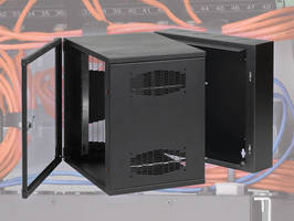 Cabinet offers options for effective cable management.