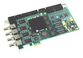 PCI Express Frame Grabber provides 16 analog camera inputs.