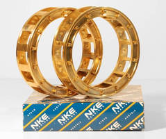 Solid Brass Bearing Cages from NKE - New Cage Design Reduces Moving Mass