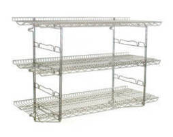 Piggyback Wall Mounted Shelf Kits expand wall storage.