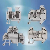 Terminal Blocks are current rated up to 15 A at 300 V.