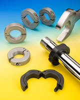 Hinged Shaft Collars are offered with wrench flats.