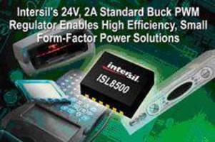 Buck PWM Regulator supports input voltage range up to 24 V.