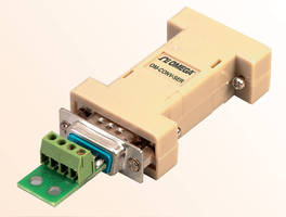 Interface Converter converts RS-232 into half-duplex RS-485.
