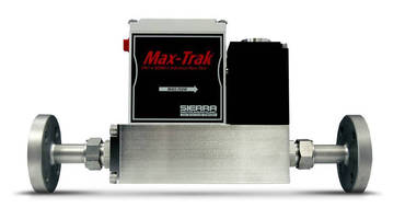 Mass Flow Controller offers stainless steel flange mounting.