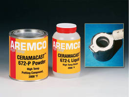 Ceramic Adhesive suits high temperature potting applications.