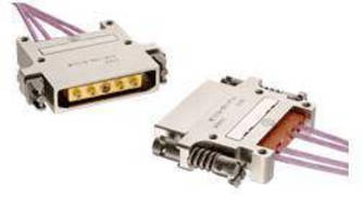 Rectangular Connectors accept LuxCis(TM) optical termini.