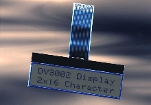 Chip-On-Glass LCD can be read in sunlight.