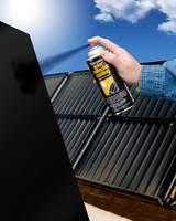 Solar Collector Coating absorbs and retains heat energy.