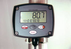 Totalizer calculates and displays flow rates/totals.