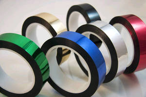 Metallized Mylar® Tapes come in 6 colors.