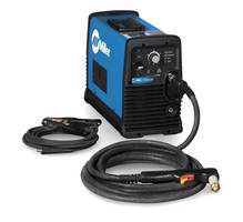 Portable Plasma Cutter can cut 7/8 in. mild steel at 10 ipm.