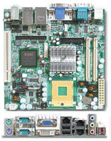 Mini-ITX Embedded System Boards utilize Intel mobile CPUs.