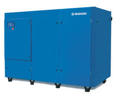 Oil Lubricated Screw Compressor is rated at 350 hp.