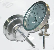 Sanitary Dial Thermometer features 3-A certified design.