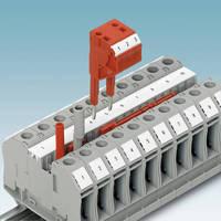 Ring Lug Terminal Blocks provide rugged bolt connection.