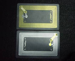 RFID Inlay operates in 125 KHz or 13.56 MHz frequency band.