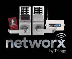 Wireless Networking Lock eliminates door-to-door programming.