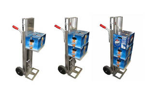 Automatic-Lift Cart allows for waist-level loading/unloading.